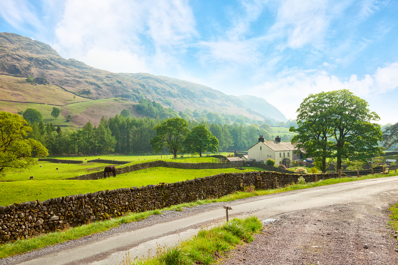 Sunny day at Lake District National Park